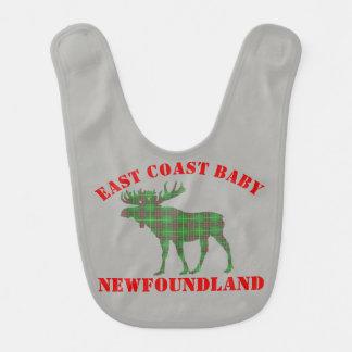 東海岸のベビーのアメリカヘラジカのニューファウンドランドのタータンチェックのよだれかけ ベビービブ