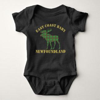 東海岸のベビーのアメリカヘラジカのニューファウンドランドのタータンチェックのワイシャツ ベビーボディスーツ