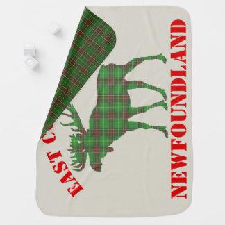 東海岸のベビーのアメリカヘラジカのニューファウンドランドのタータンチェック毛布 ベビー ブランケット