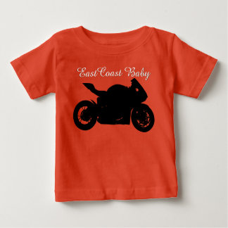東海岸のベビーのオートバイのチョッパー ベビーTシャツ