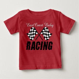 東海岸のベビーのカーレースのワイシャツ ベビーTシャツ