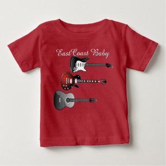 東海岸のベビーのギター音楽かわいいワイシャツ ベビーTシャツ