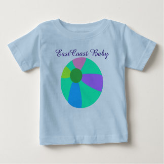 東海岸のベビーのビーチボールのワイシャツ ベビーTシャツ