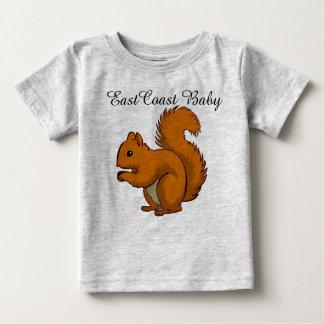 東海岸のベビーのリスのワイシャツ ベビーTシャツ
