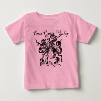 """東海岸のベビーのワイシャツのタコ""""灯台ルート"""" ベビーTシャツ"""