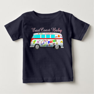 東海岸のベビーの平和愛これ以上の戦争のバン ベビーTシャツ