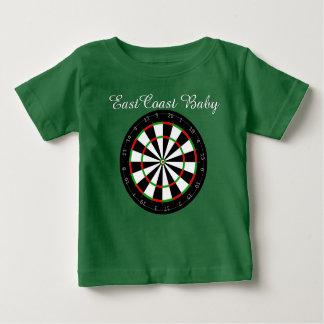 東海岸のベビーの投げ矢板ワイシャツ ベビーTシャツ