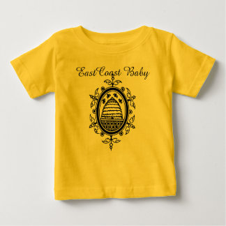 東海岸のベビーの蜂のはちの巣の装飾 ベビーTシャツ