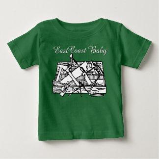 東海岸のベビーの道具箱の木製の働くワイシャツ ベビーTシャツ
