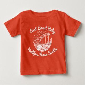 東海岸のベビーハリファックスノバスコシアカナダ ベビーTシャツ