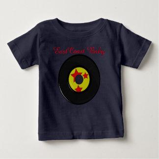 東海岸のベビー音楽記録かわいい野球のワイシャツ ベビーTシャツ