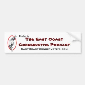 東海岸の保守的なポッドキャストのバンパーステッカー バンパーステッカー