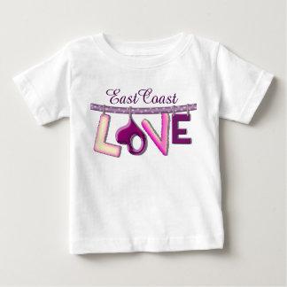 東海岸愛カスタムなベビーのワイシャツ ベビーTシャツ
