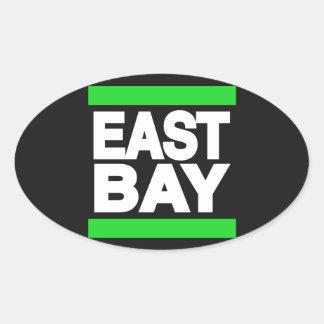 東湾の緑 楕円形シール