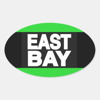 東湾2の緑 楕円形シール
