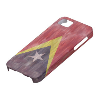 東部チモール島の動揺してな旗 iPhone SE/5/5s ケース