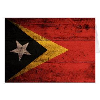 東部チモール島の古い木の旗 カード
