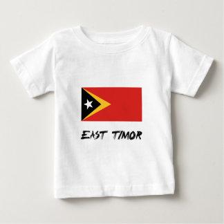 東部チモール島の旗 ベビーTシャツ
