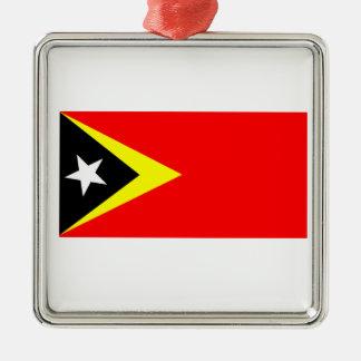 東部チモール島の旗 メタルオーナメント