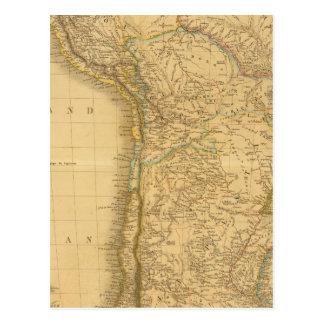 東。 南アメリカ ポストカード