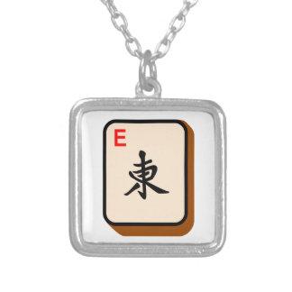 東Mahjong シルバープレートネックレス