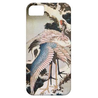 松に鶴、北斎は松の木、Hokusai、Ukiyo-eで伸ばします iPhone 5 ケース