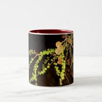 松の木のデザインのマグ ツートーンマグカップ
