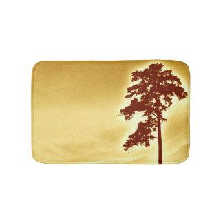 松の木のバス・マット-オレンジ バスマット