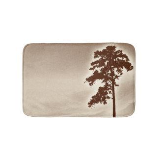 松の木のバス・マット-セピア色 バスマット