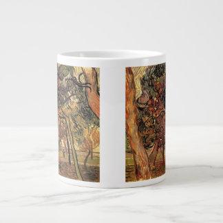 松の木のヴィンテージの印象主義のゴッホの勉強 ジャンボコーヒーマグカップ