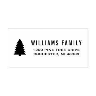 松の木|の休日の差出人住所 セルフインキングスタンプ