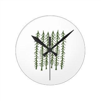 松の木 ラウンド壁時計