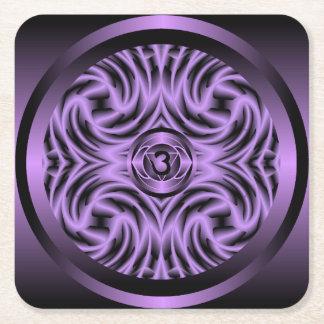 松果眼のチャクラの曼荼羅のコースター スクエアペーパーコースター