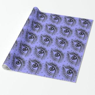 松果眼の大きい目の眼球のハロウィンの霊魂の視力 ラッピングペーパー