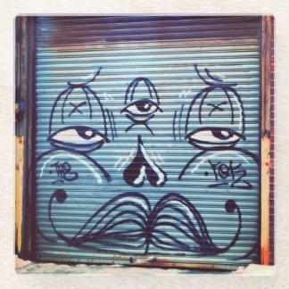 松果眼の落書き ガラスコースター