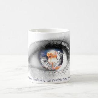 松果眼の飾られたコーヒー・マグ コーヒーマグカップ