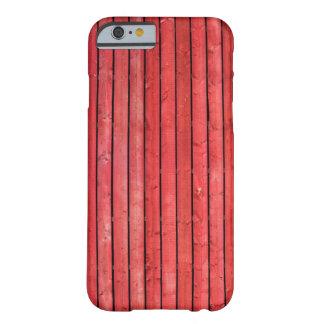 板のIphone赤い木の6/6sの箱 Barely There iPhone 6 ケース