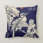 枇杷に鳥、広重の鳥およびビワ、Hiroshige、Ukiyo-e クッション