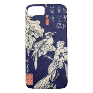 枇杷に鳥、広重の鳥およびビワ、Hiroshige、Ukiyo-e iPhone 8/7ケース