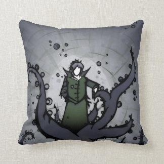 枕の緑及びつる植物の姿 クッション