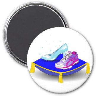 枕の運動靴そして王女のガラススリッパ マグネット