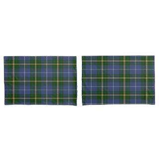 枕は青い   ノバスコシアのタータンチェック格子縞を包装します 枕カバー