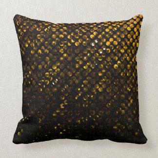 枕金ゴールド水晶きらきら光るなStrass クッション