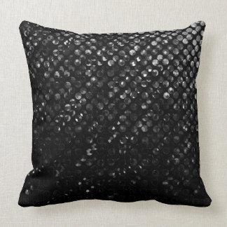 枕黒い水晶きらきら光るなStrass クッション