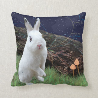 枕-宇宙ウサギ-デジタル元のコラージュ クッション