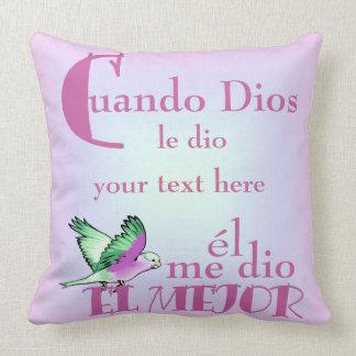 枕Cuando Diosあなたの文字Here© クッション