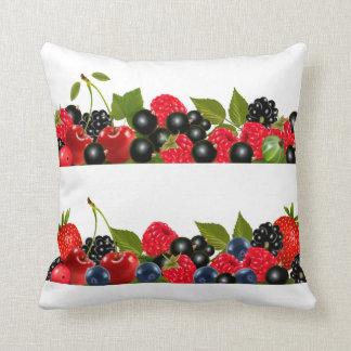 果実のさくらんぼのいちごのブルーベリーのラズベリー クッション