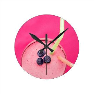 果実のスムージー2 ラウンド壁時計