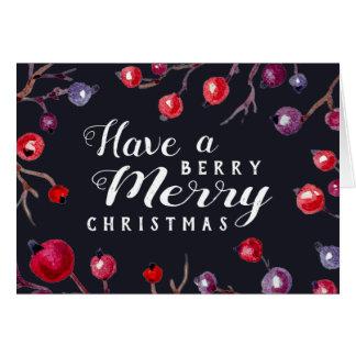 果実のメリークリスマスの挨拶状 グリーティングカード