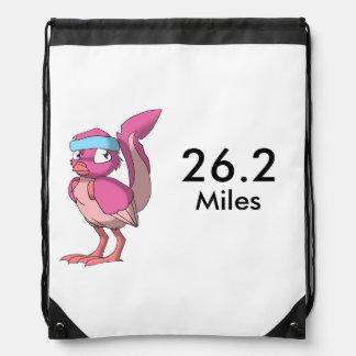 果実のヨーグルトのReptilianの鳥のマラソン ナップサック